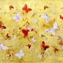 Summer Garden I (collage, gold leaf)