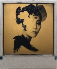 I See Now 24ct gold leaf Polaroid collage