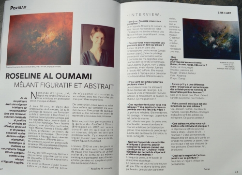 Nice article in the magazine Cdel'art N ° 3.