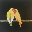 Parrots at night