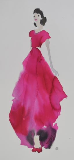 Pink Dress by Bridget Davies