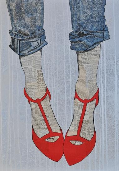 leaving footprints by Martina Niederhauser-Landtwing