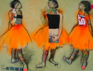 Degas Redrawn (Three Studies of a Dancer in Fourth Position; Vandalised Masters)