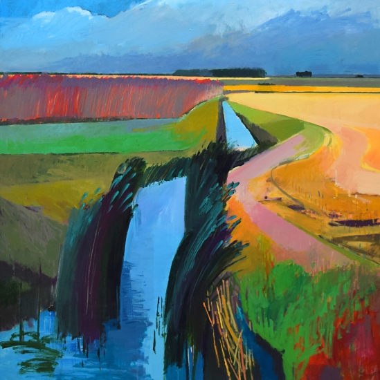 Crooked Ditch, Conington Fen by Fred Ingrams