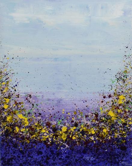 Purple Garden by Lisa Carney