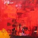 Amour d'été (large red abstract)