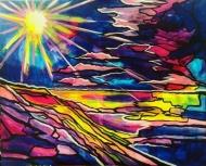 Neon Sea Sun