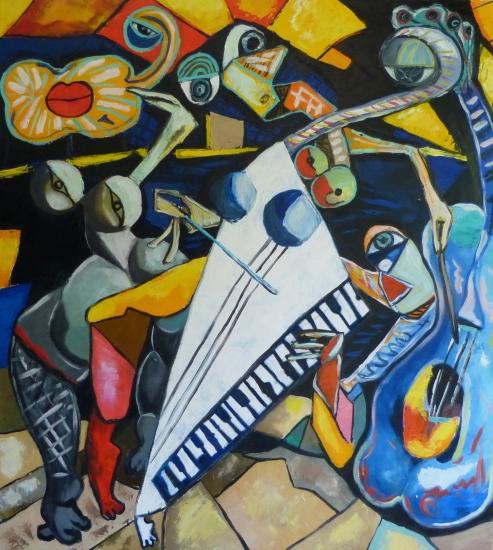 The jazz players by Ta Thimkaeo