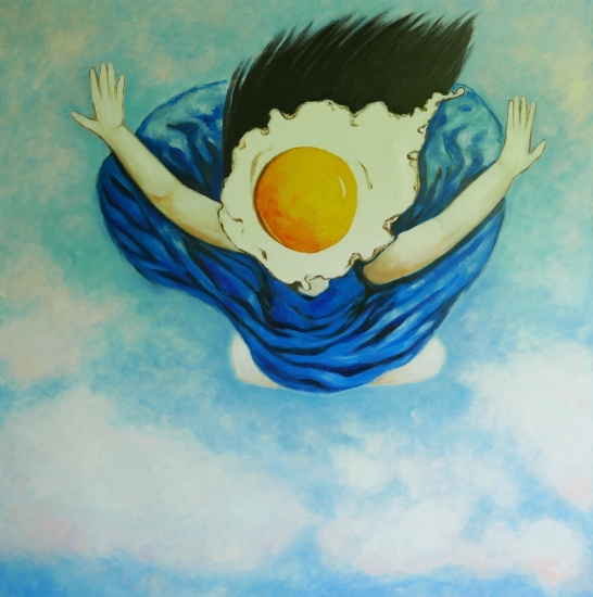 Large Egg girl flying by Ta Thimkaeo