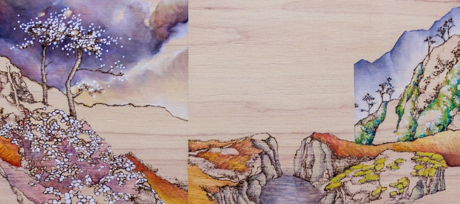 Painting and Pyrography with Michelle Loa Kum Cheung