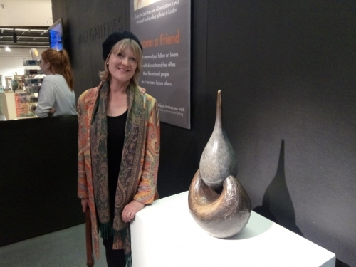 Me with 'Blessing' at the Mall Galleries, London