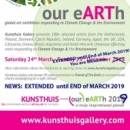 """Our eARTh 2018/2019"" - Global Art Exhibition responding to Climate Change & Environment"