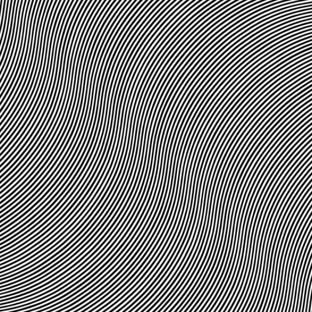 Over by Bridget Riley, 1966