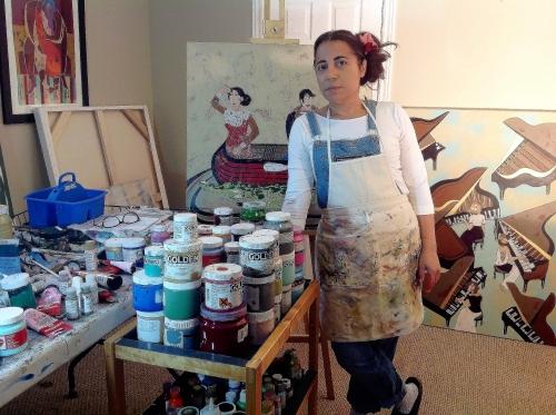 Diana Rosa at the Studio