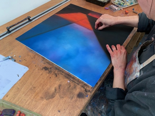 Lightscapes- Pastel on paper in progress