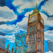 Elizabeth tower by kerry royle buy affordable art online for Buy affordable art online