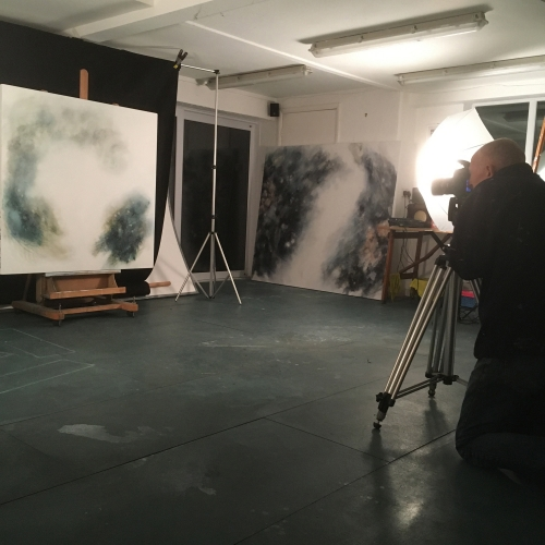 Photographing new work in the studio
