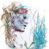 Carne Griffiths striking portraits composed with Whisky, Vodka, Tea and Ink