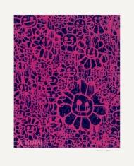 Murakami x MADSAKI Flowers Black Pink B