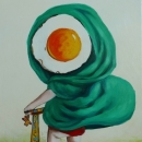 Little egg riding hood