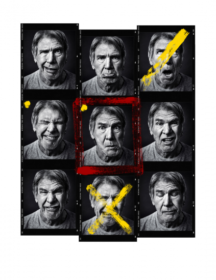 Harrison Ford Embellished Contact Sheet by Andy Gotts
