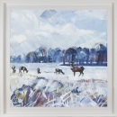 'Snow Study in Park' Limited Edition Giclee Print, 80x80cm frame