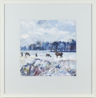 'Snow Study in Park' Limited Edition Giclee Print, 48x48cm frame