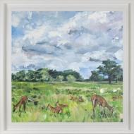 'Summer Parkland' Limited Edition Giclee Print, 80x80cm frame
