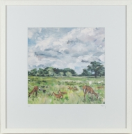 'Summer Parkland' Limited Edition Giclee Print, 48x48cm frame
