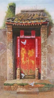 Chinese old door 397