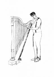 Le harpiste.