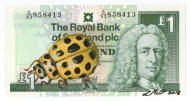 22 Spot Ladybird on Scottish Note