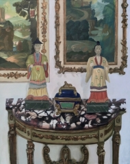 Still life with figurines.