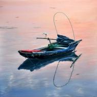 Print of original painting:silent lake