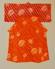Happy Hour Kimono, Orange and Red