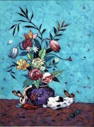 Floral on Vase 564