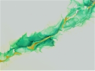 Abstract Amazon Green & Gold
