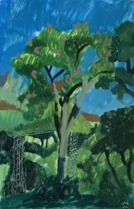 Paysage turc avec l'arbre