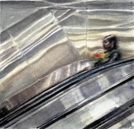 Commuter (Woman with Flowers)