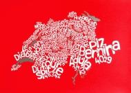 Swiss Mountain Map