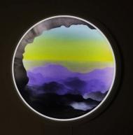 Light Tondo Monoscape Yellow Violet
