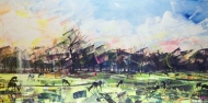 Deer Panoramic LIMITED EDITION GICLEE PRINT, 114X64CM FRAME