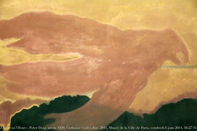Le Jour ni l'Heure 5392 : Peter Doig, né en 1959, Corbeaux, Cyril's Bay, 2011, musée de la Ville de Paris by Renaud Camus